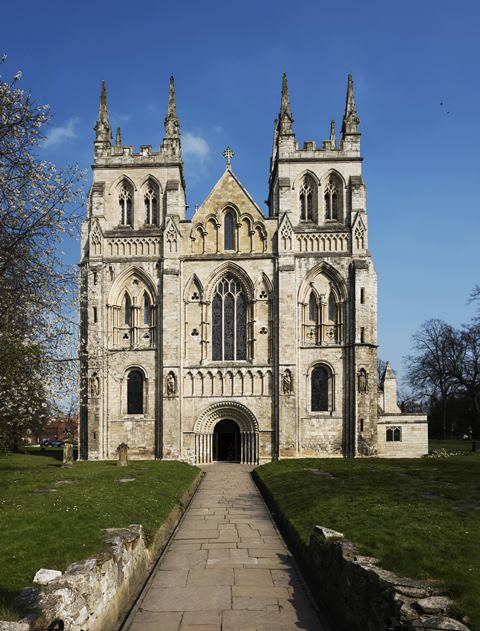 The Selby Abbey from the outside
