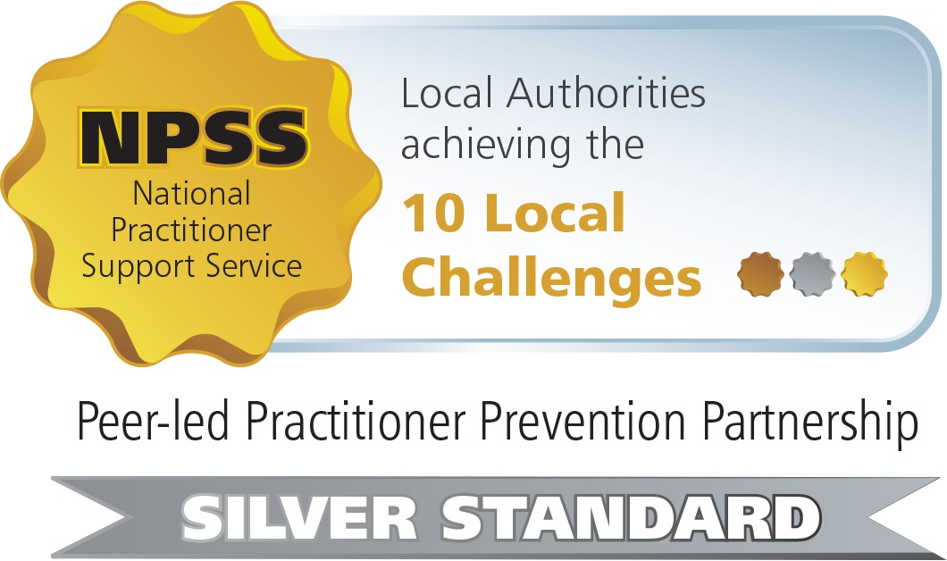 Local authority achieving the 10 Local Challenges Bronze Standard badge