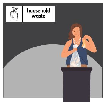 Household waste bin image.