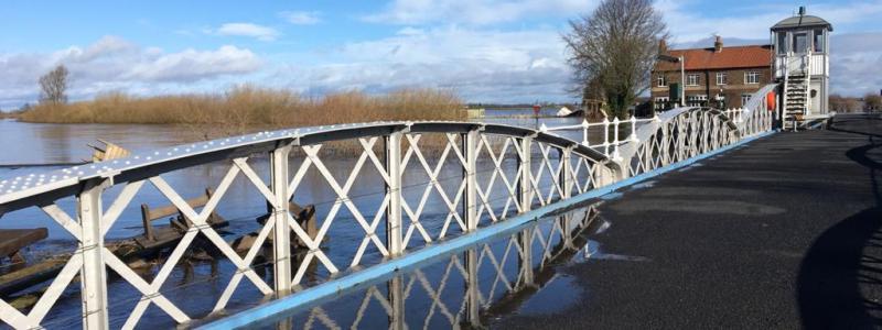 Cawood bridge flooded