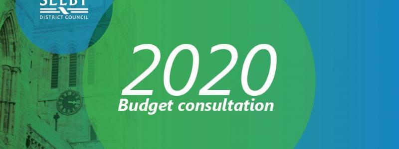 Budget Consultation banner