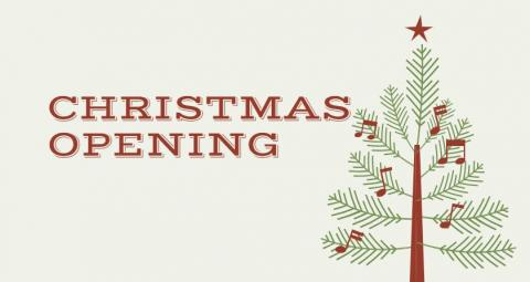 Christmas Opening banner