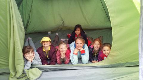 Rainbows, brownies and guides camping