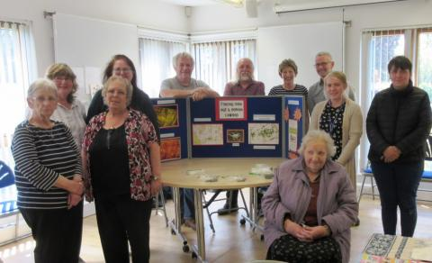 Friendship Friday group with Dr Jon Kenny and Margaret Brearley from Cawood Castle Garth Group