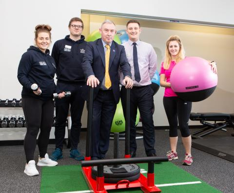 Councillor Crane and Selby Leisure Centre staff with the new gym equipment