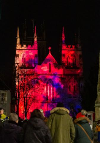 Crowds enjoy the Selby 950 event Pilgrim