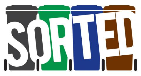 Image of the new SORTED waste and recycling service logo
