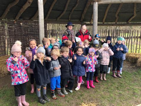 School children enjoy visiting the meadow