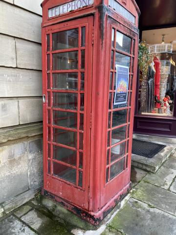 image of a public phone box
