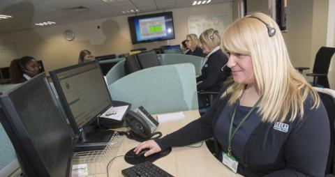 Contact centre staff answering the phone lines