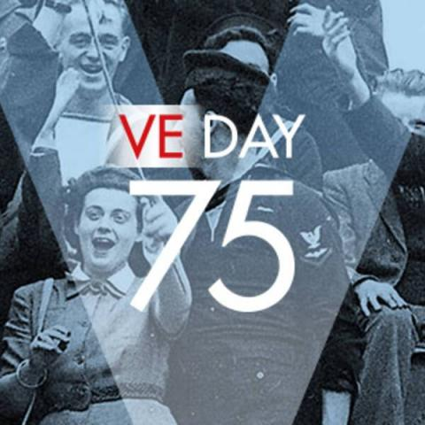 VE day 75 years celebration image