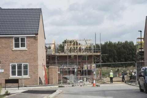 Image of a housing development site