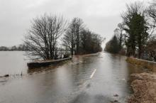 A19 road flooded