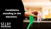 Candidates standing in the elections