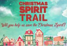 Christmas trail banner