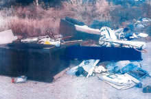 Image of household items fly-tipped