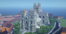 Selby Abbey in the Minecraft game
