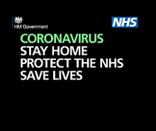 Coronavirus Stay at Home, Protect the NHS and Save Lives banner
