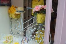 Shop window dressed for Tour De Yorkshire