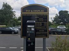 Image of a parking payment stand